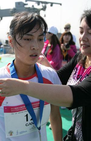 Xue Gan ladies' second. (C) Sporting Republic