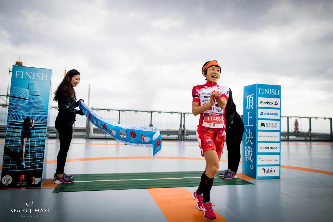 Yuri Yoshizumi women's race winner. © Sho Fujimaki