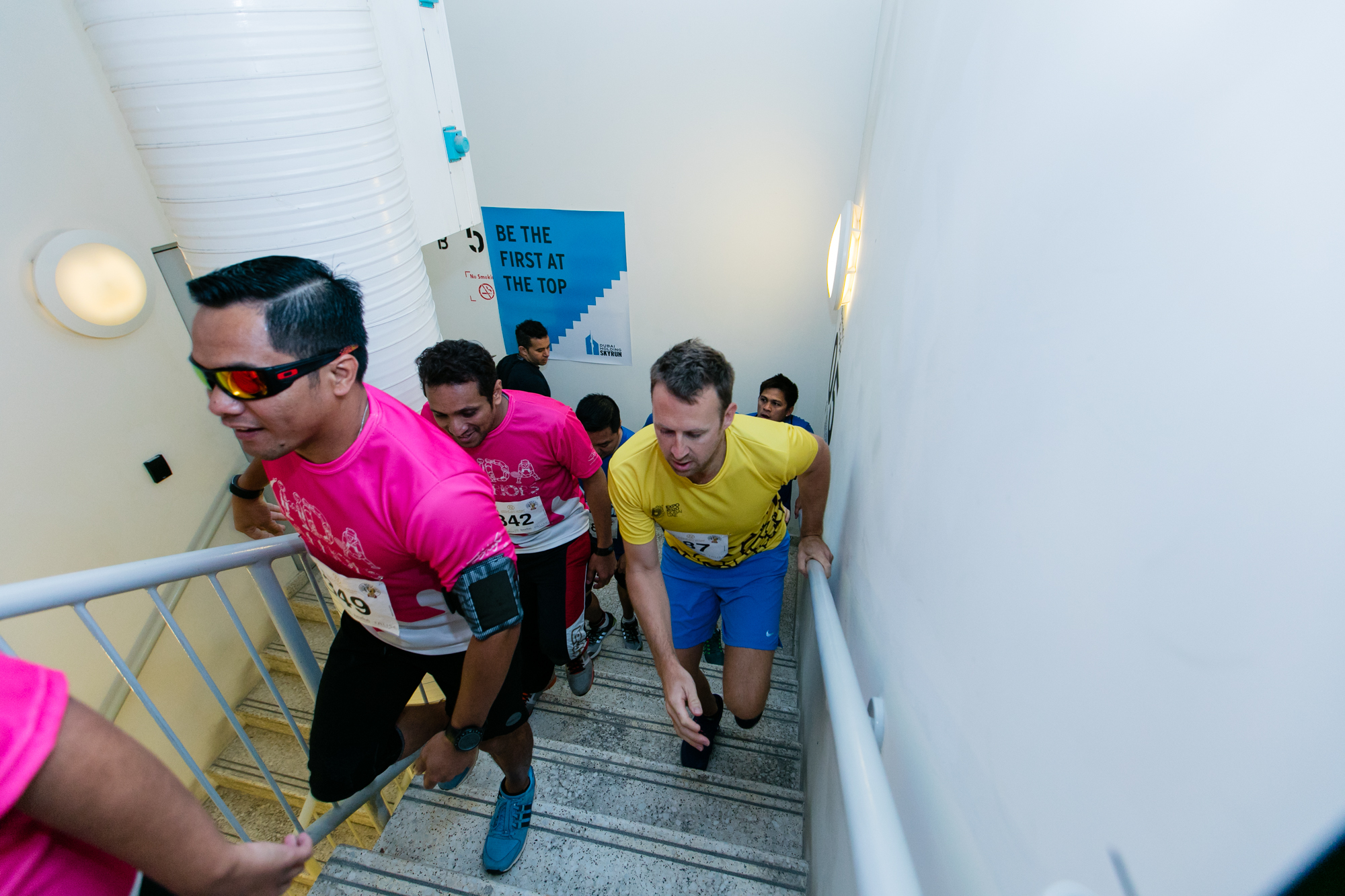 The runners in action. ©Dubai Holding SkyRun