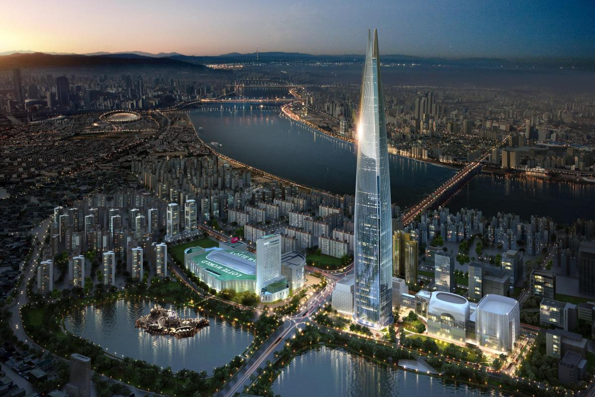 Lotte World Tower, Seoul, site of the VWC Exhibition Race. © Korean Cultural Hub