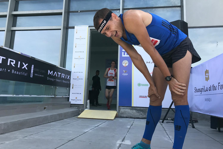 Winner Piotr Lobodzinski, Kerry Sports Manila Vertical Run. © Sporting Republic