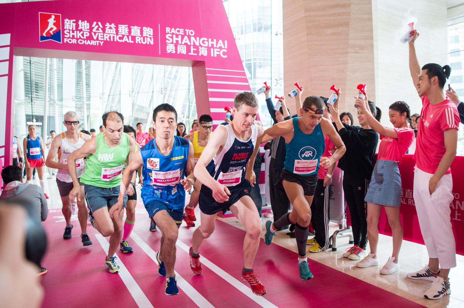 Men's start, SHKP Vertical Run for Charity: Race to Shanghai IFC. ©Sporting Republic