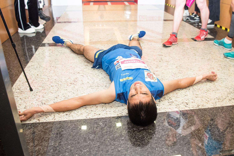 Ryoji Watanabe, third, SHKP Vertical Run for Charity: Race to Shanghai IFC. ©Sporting Republic