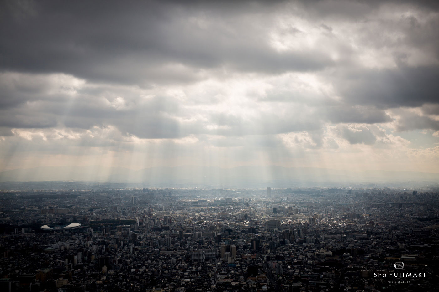 Osaka from the top of the 300m tall Abeno Harukas tower, site of the Harukas Skyrun. ©Sho Fujimaki